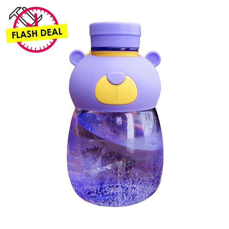 TTLIFE BPA Free Cartoon Kid Kettle School Water Bottles Leak-Proof 540ML Water Bottle Cute Bear Shaker Sport Drink Bottle