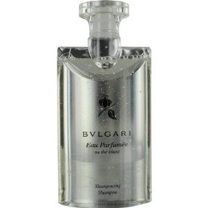 BVLGARI WHITE by Bvlgari for Men and Women: SHAMPOO 6.8 OZ by BVLGARI. $28.96. Fragrance Notes: White Tea, Musk, Artemisia Leaves, Ambergris, White Pepper, Ablemosk. Recommended Use: daytime. Design House: Bvlgari. BVLGARI WHITE by Bvlgari for Men and Women SHAMPOO 6.8 OZ Launched by the design house of Bvlgari in 2003, BVLGARI WHITE by Bvlgari possesses a blend of White Tea, Musk, Artemisia Leaves, Ambergris, White Pepper, Ablemosk. It is recommended for daytime wear.