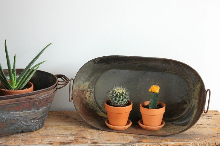 Rustic Metal Oval Planter | $33.35