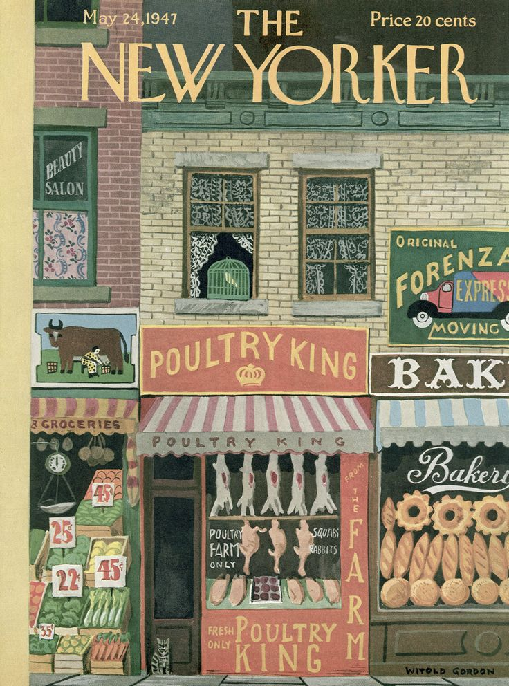 The New Yorker - Saturday, May 24, 1947 - Issue # 1162 - Vol. 23 - N° 14 - Cover by : Witold Gordon