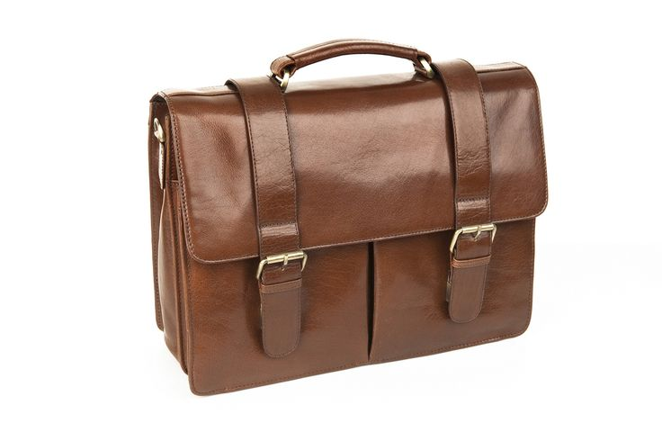 Men's Brown Leather Briefcase