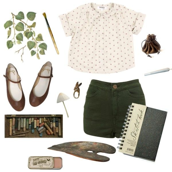 Aspire by catalinaivonne on Polyvore featuring vintage, nature, forest, nymph and artstudent