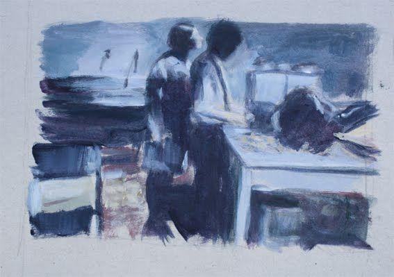"""De la serie """"Relaciones Secretas"""" acrílico sobre Cartón, 30 x 20 cm"""