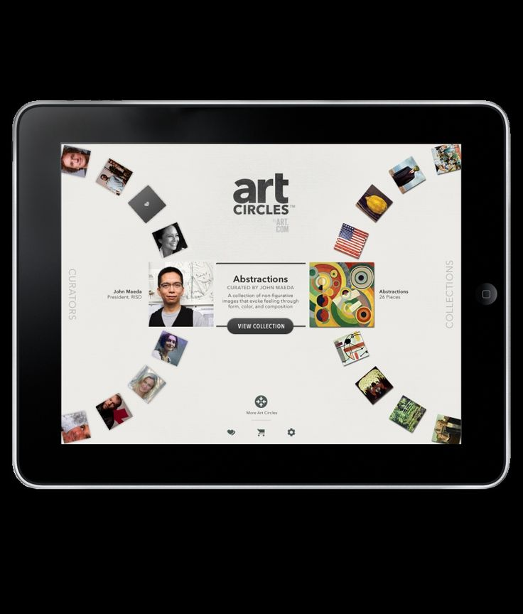 Art.com's iPad Application—artCircles™ | Hot Studio