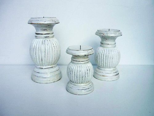 Candle Holders, timber, Set of three, Balinese, Hand Carved, Wooden, Shabby Chic  These Gorgeous Hand Carved and Painted Set of 3 Timber Shabby Chic Candle Holders will look great in any home?  You can easily find a special place in your home for these beautiful candle  these candle holders have been hand crafted and painted with love by local Balinese artisans