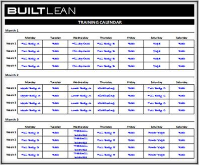 Work Out Schedule Template  PetitComingoutpolyCo