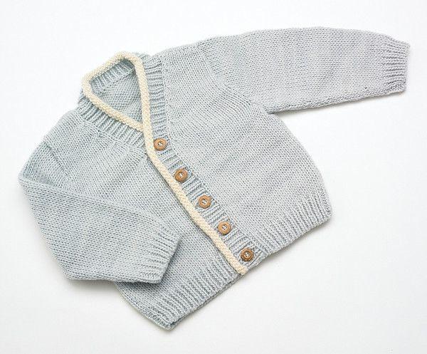 #Merino Baby cardigan - Pale Blue | Flordemano