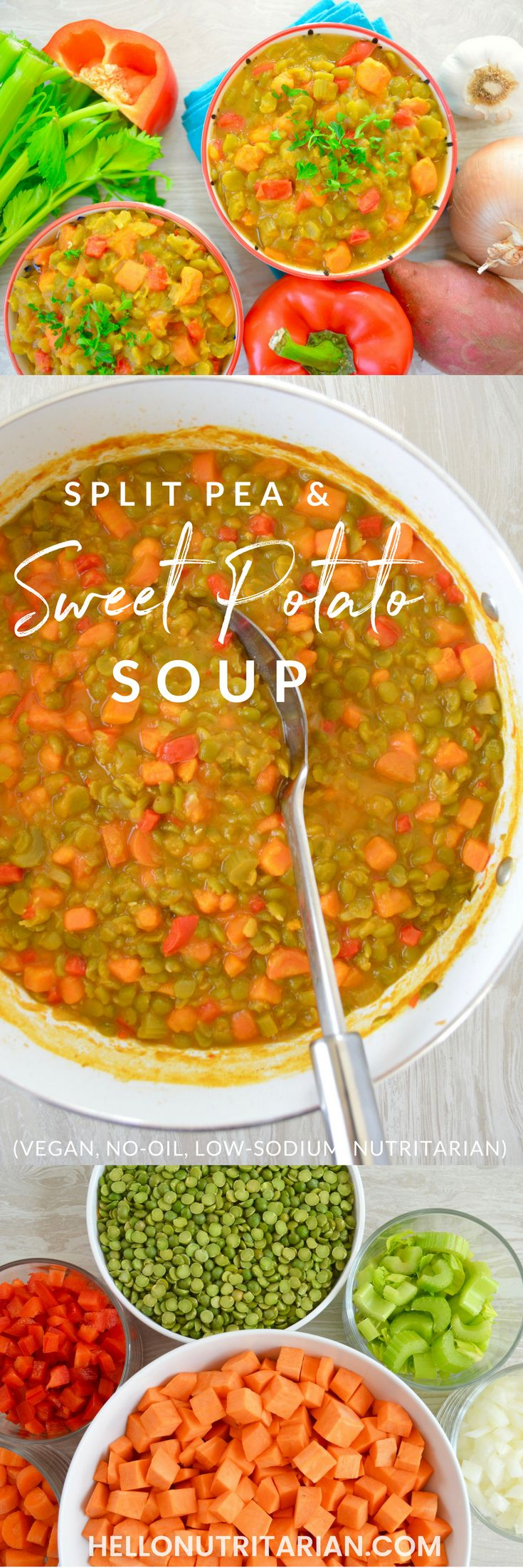 Sweet Potato & Split Pea Vegan Soup Recipe - Whole Food Plant Based
