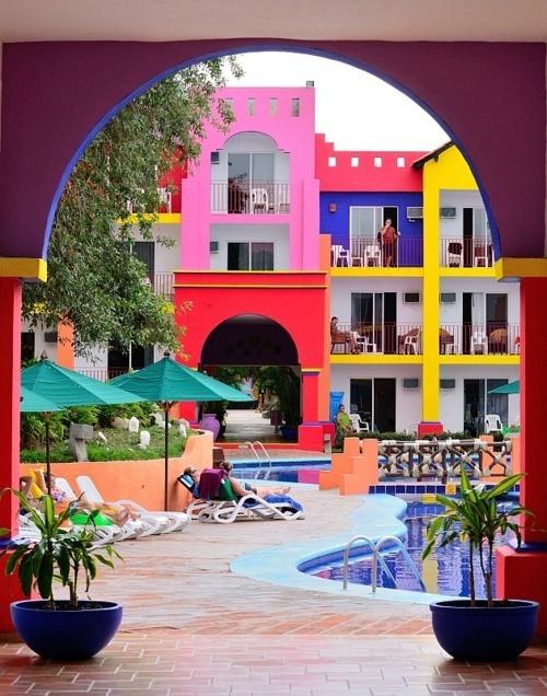 Colorblock architecture