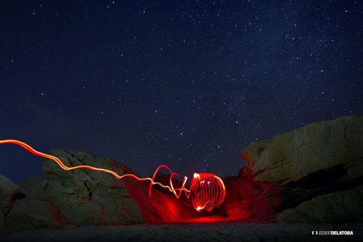 Playa El Tule, light painting  #josafatdelatoba #cabophotographer #loscabos #lightpainting #longexpositure