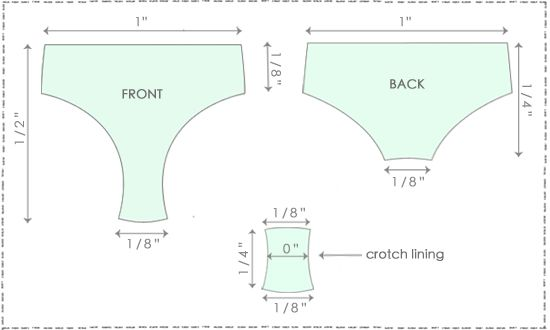 How to Grade Undies - from: http://www.madalynne.com/how-to-grade-undies