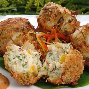 Blue Crab Fritters via eatgulfseafood.com #GulfSeafood