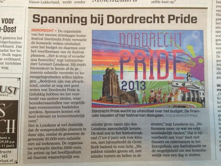 Spanning bij Dordrecht Pride