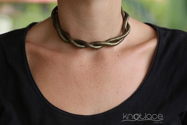 'Original' Knotlace bendy necklace & accessory. Antique/Rose Gold. - http://www.knotlace.com.au/ #style #fashion #accessory #jewellery #goldaccessory #antiquegold #rosegold