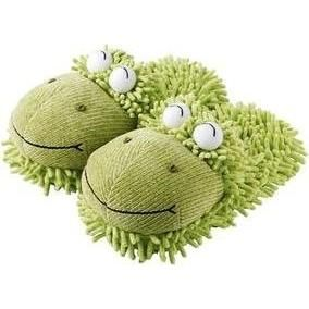 Fuzzy Friends Frog Slippers.