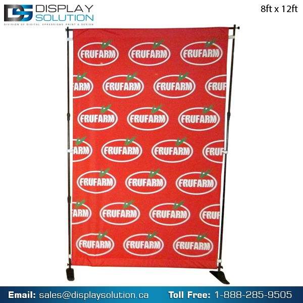 The complete display solution for those who is looking for a large size display. Our Step and Repeat Banner Stand is sturdy, adjustable, and most importantly, enormous! Capable of holding large graphics in a free standing environment, you can use this at your upcoming trade shows and event to showcase any campaign.  Order your most desirable step and repeat media banner stand from us in reasonable Prices! https://displaysolution.ca/banner-stand/telescopic-step-and-repeat-banner-stand.html