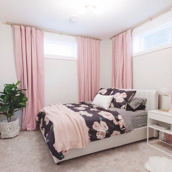 The Emily Meritt Bed Of Roses Duvet Cover Twin Twin Xl Black Pink Interior Design Studio Bedroom Styles