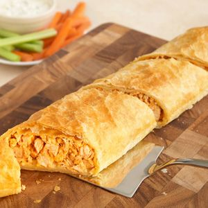 Buffalo chicken Stromboli with puff pastryBlue Cheese, Puff Pastries Recipe, Pepperidge Farms, Food, Buffalo 66, Stromboli Recipe, Chicken Stromboli, Hot Sauces, Buffalo Chicken