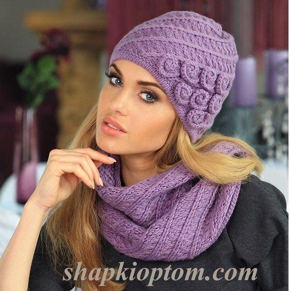 Женские вязаные шапки 2015 фото, вязание спицами, крючком.35 вариантов для…