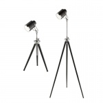 Hollywood Spot Light Floor and Table Lamp, Set of 2
