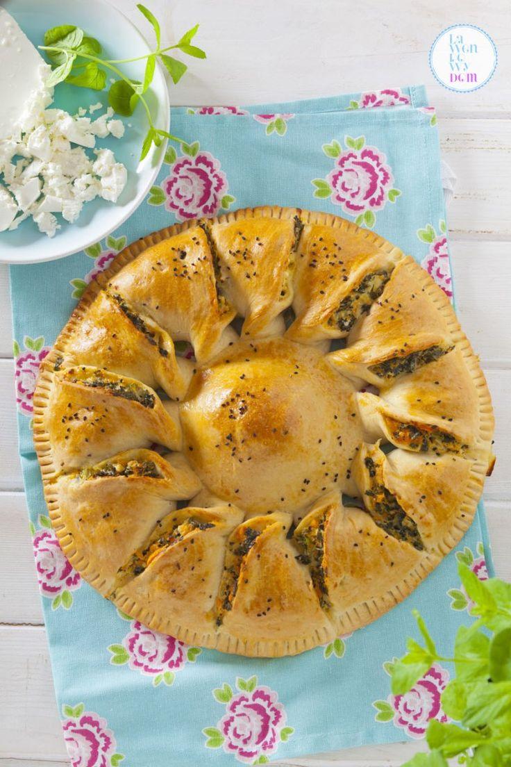 Wegetariańskie ciasto z jarmużem, batatami i serem - Lawendowy DomLawendowy Dom