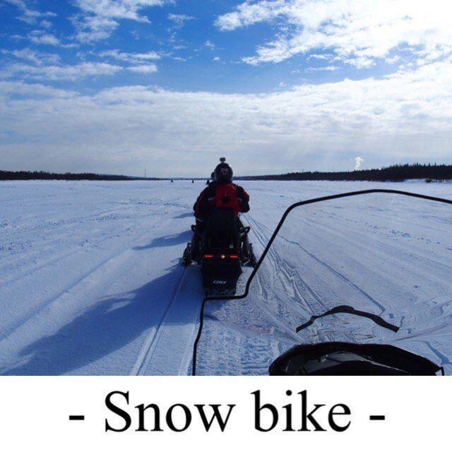Atravesando un río helado en moto de nieve #laponiafinlandesa by jesusoliver