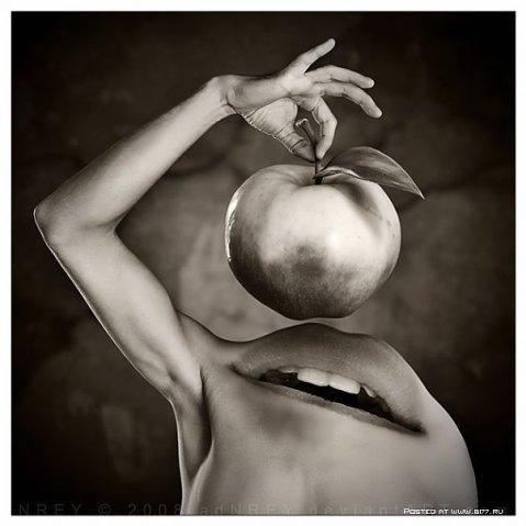 mond met appel