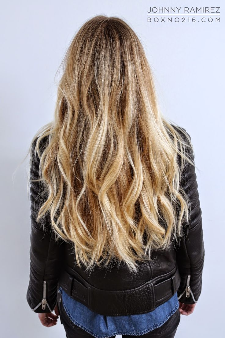 Box No. 216: LONG + BLONDE  Honey and blonde highlights pops