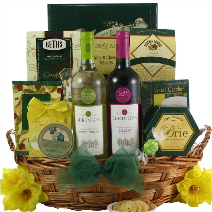 114 best gift baskets and care packages images on pinterest gift beringer california collection duet easter wine gift basket negle Images