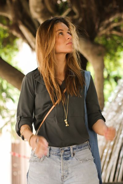 CHIC SHIRT military green