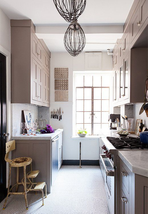 Inside the NYC Home of Designer Michelle Smith farrow and ball charleston grey