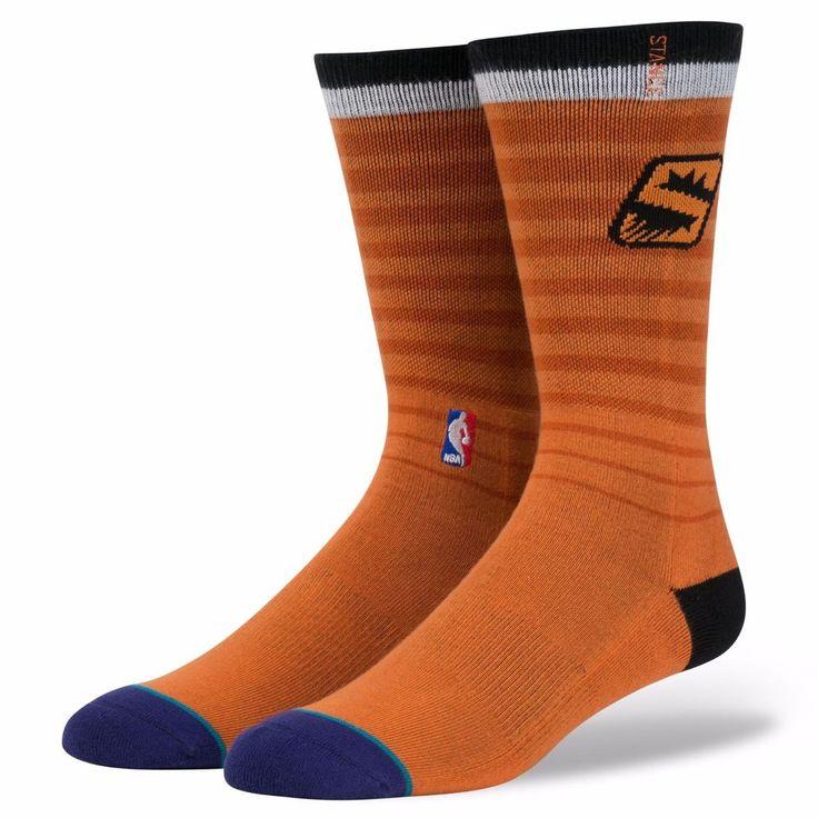 NEW STACE Phoenix Suns Fit 558 Classic Pique Orange Socks Mens Size L (9-12) #Stance #NBA