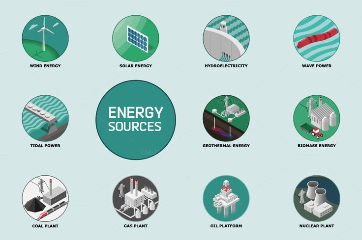 Energy Sources by bhj on Creative Market