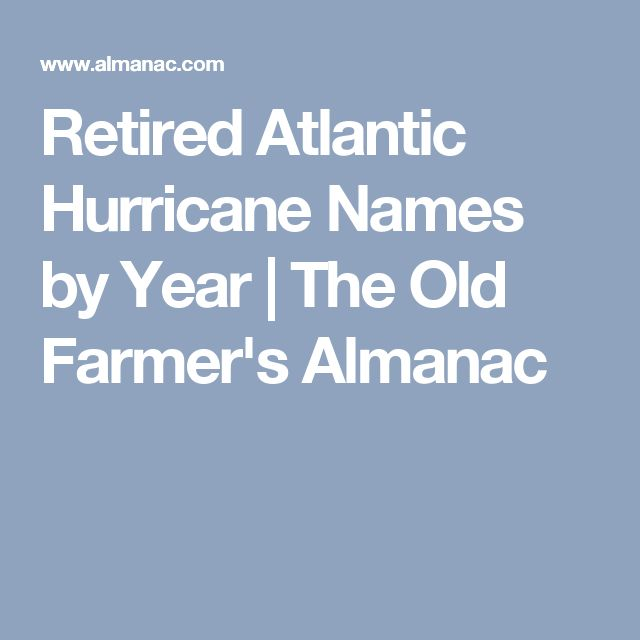 Retired Atlantic Hurricane Names by Year | The Old Farmer's Almanac