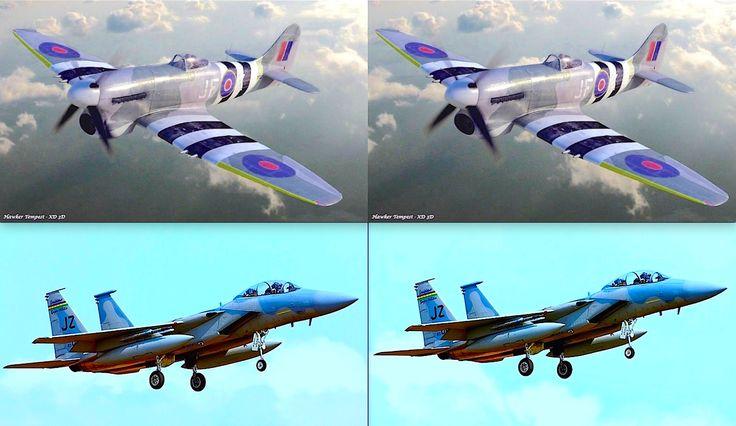 3D Hawker Tempest + Douglas jet F15D