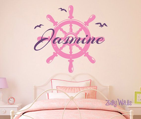 Custom Boat Steering Wheel Sailor Board Name Vinyl by ZillyWalls