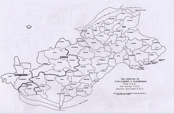 Parish maps of Fife, Kinross, Clackmannan county from Scotlandsfamily.com - Scottish genealogy portal assisting Scottish ancestor search