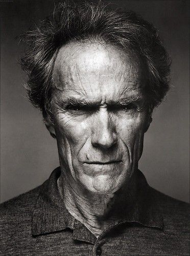 Clint Eastwood #portrait #bw #pinned