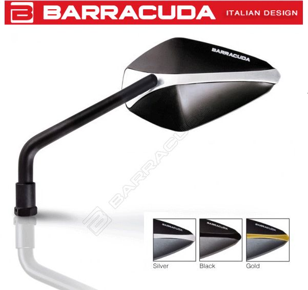 Barracuda X-Version Motorcycle Mirrors E-Marked ...