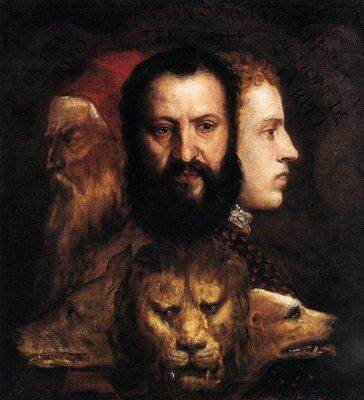 Allegory of time governed by prudence, by Titian