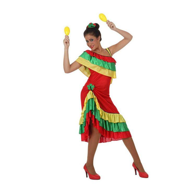 Déguisement Danseuse Rumba Longue #déguisementsadultes #costumespouradultes