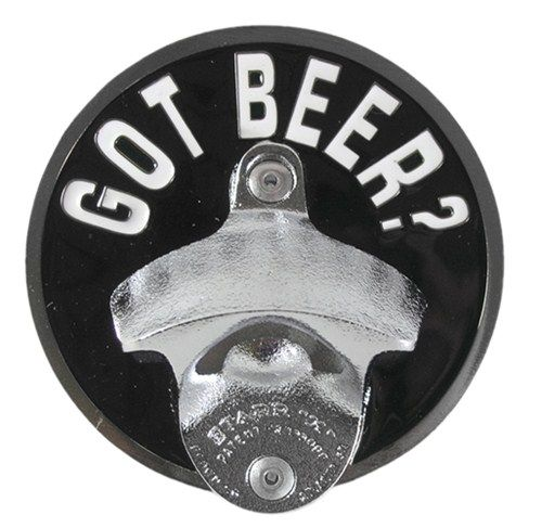 """Got Beer? Trailer Hitch Cover with Bottle Opener for 2"""" Trailer Hitches Alfred Hitch Cover Hitch Covers AH-10202"""