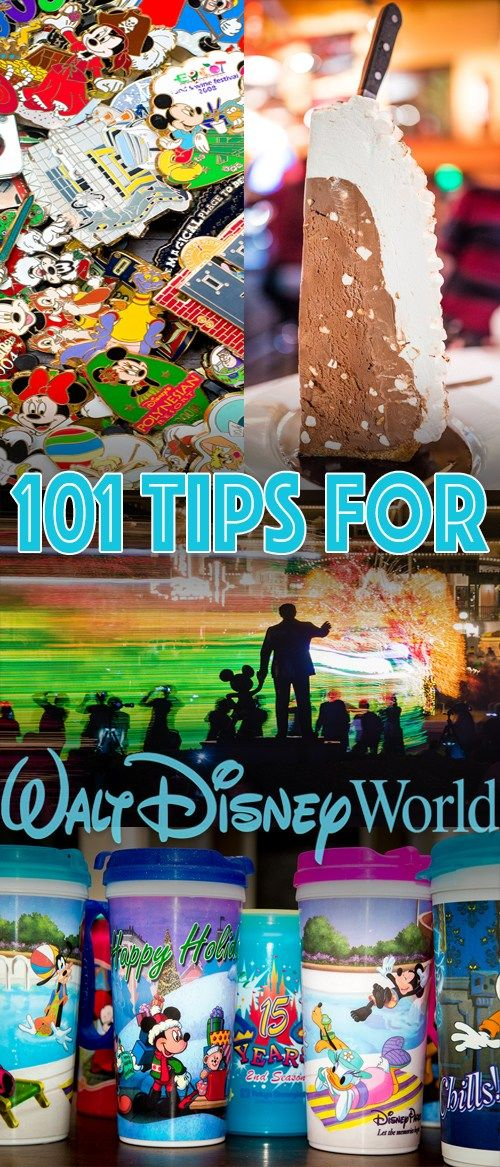 When visiting Walt Disney World, there are a lot of things that can save you time and money, or improve the quality of your vacation. Here are 101 tips based upon our experiences in years of traveling to Walt Disney World. Some are simple and easy to do--like standing in a different spot than you normally might for
