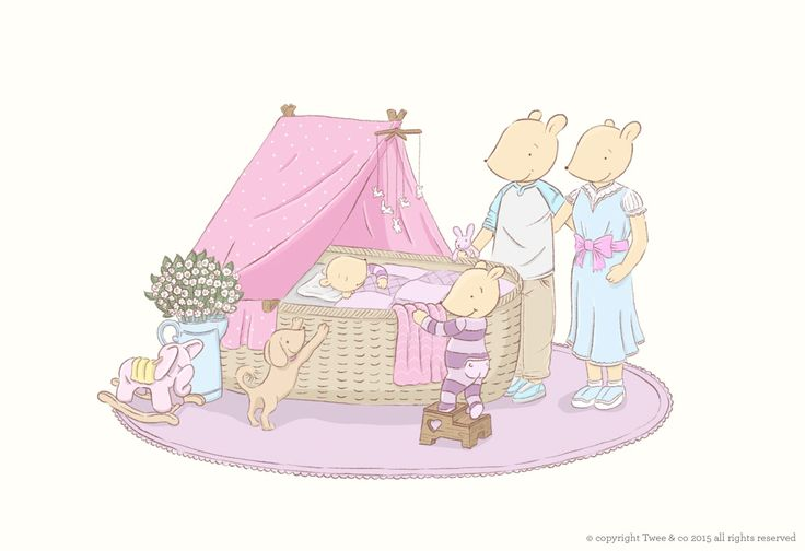 The nursery at Twee Cottage Illustration by Chelsa Sinclair www.tweeandco.co.nz