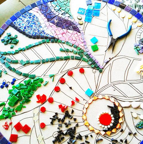 Art tutorials excellent instructions terminology for How to draw mosaic patterns