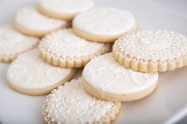 Bridal Shower Lace Cookies