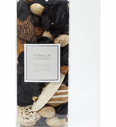Bhs Vanilla coconut pot pourri box, cream 30921150005 Vanilla and coconut fragranced botanicals to bring a fresh scent to any room in your home. Place in a bowl, away from direct sunlight.Dimensions: 28cm x 10cm x 7cmFragrance: Silky and smooth vanilla w http://www.comparestoreprices.co.uk/perfumes/bhs-vanilla-coconut-pot-pourri-box-cream-30921150005.asp