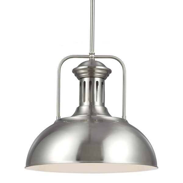 beacon street brushed nickel one light pendant overstock shopping great deals on sea gull