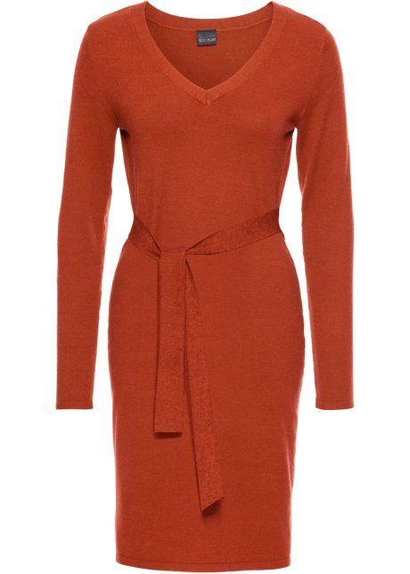 Bonprix Gebreide jurk, BODYFLIRT, Kaneel oranje knit dress orange