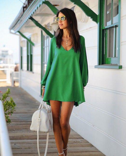 Cheap 2014 verano nuevas mujeres sexy vestidos casuales de gasa mini celebridad…